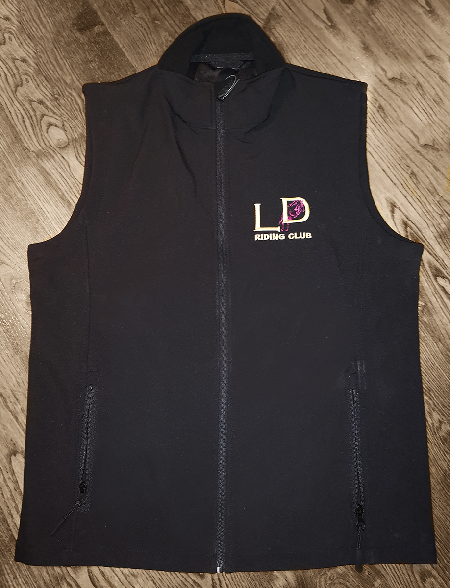 Gilet - £25.00 (front and back emb)